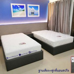 ฐานรองที่นอน เตียงหุ้มหนัง เตียงนอน3.5ฟุต
