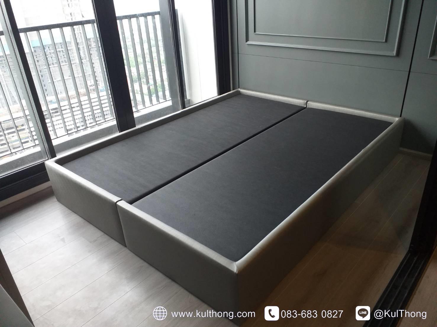 ฐานรองที่นอน ฐานเตียง เตียงหุ้มหนัง