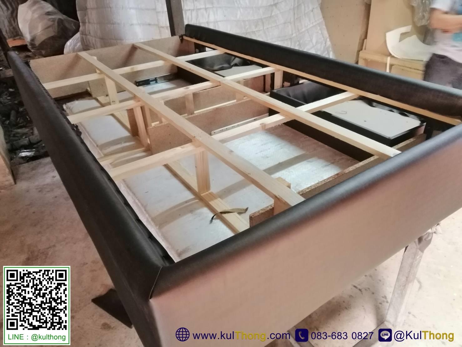 โครงสร้างเตียง ฐานรองที่นอน เตียงมีลิ้นชัก
