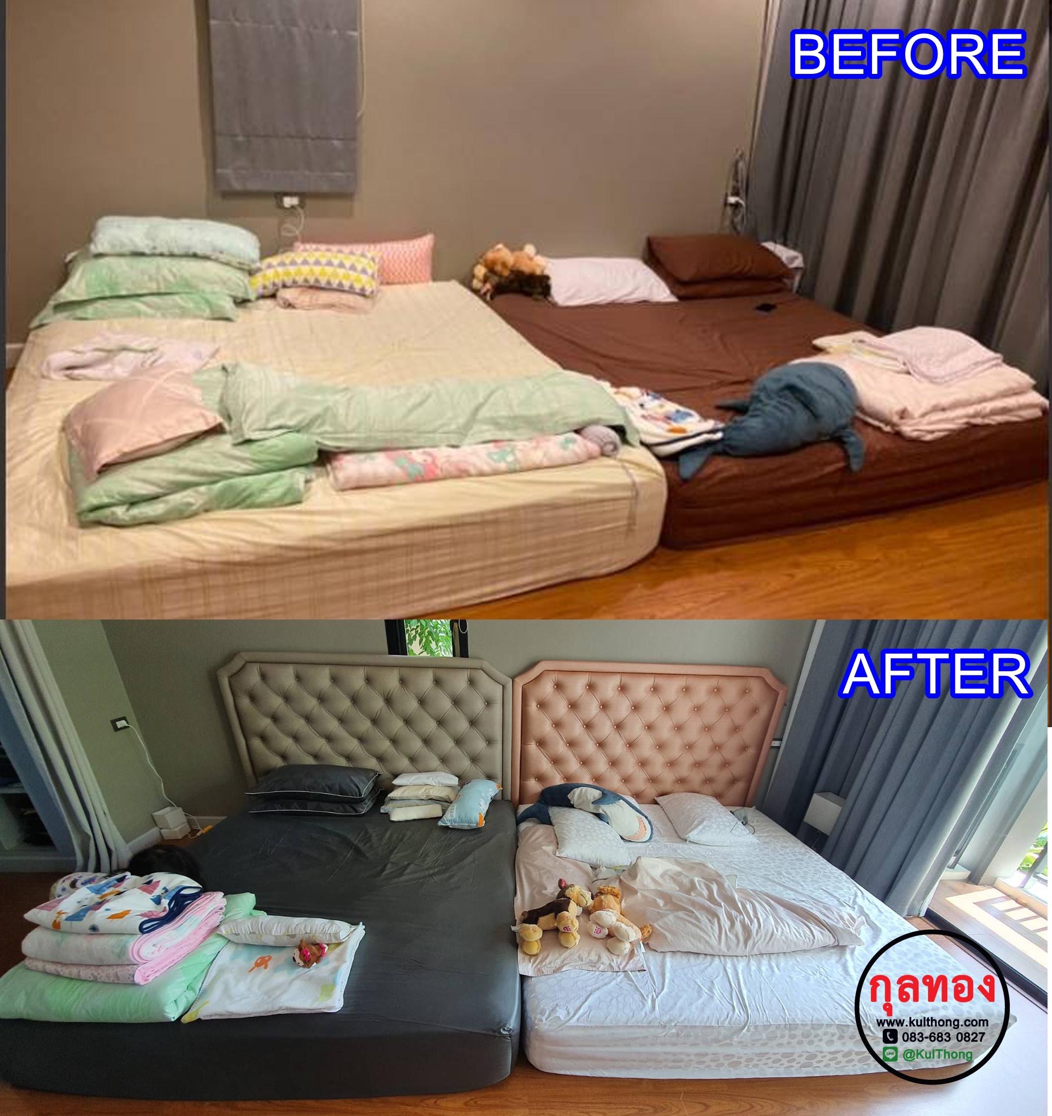 หัวเตียงอย่างเดียว หัวเตียงแขวนผนัง หัวเตียงดึงกระดุม หัวเตียงสำเร็จ หัวเตียงหุ้มหนัง